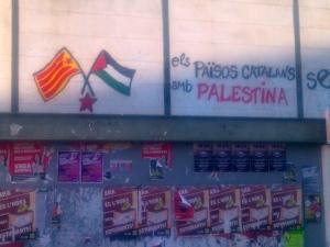 """Graffiti in Barcelona: """"Katalonien hält zu Palästina"""""""