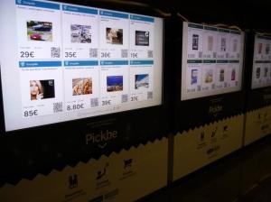Virtueller Supermarkt im Untergeschoss der Metro