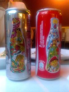 Katalanische Edition der Coca-Cola-Dosen