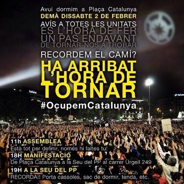 Flyer zur Großdemo in Barcelona