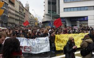Studentendemo Barcelona