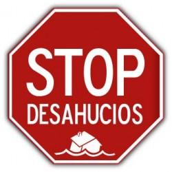 stop desahucios (Zwangsräumungen)