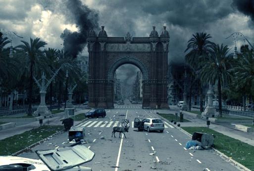 Weltuntergangsstimmung am Arc de Triomf in Barcelona. Foto: Los últimos Días