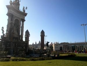 Der Corte-Ingles-Lauf führte über den Plaça Espanya auf den Montjuic. Foto: E. Villanueva
