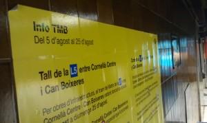 Bauarbeiten Metro Linie L5 Barcelona