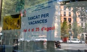 Tancat, geschlossen