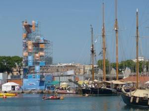 Klippenspringen Port Vell Barcelona