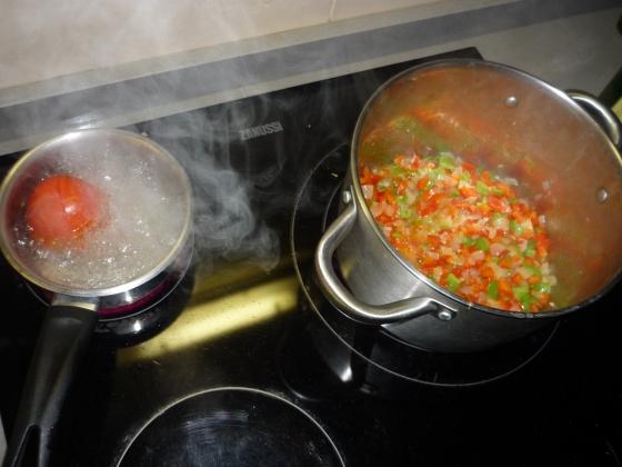 Samfaina - Gemüse anbraten