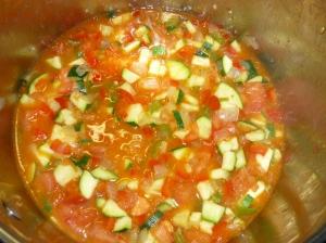 Samfaina - Gemüse schmoren lassen