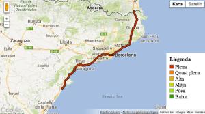 Menschenkette Diada Katalonien